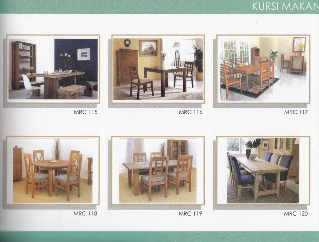 Katalog set meja makan minimalis