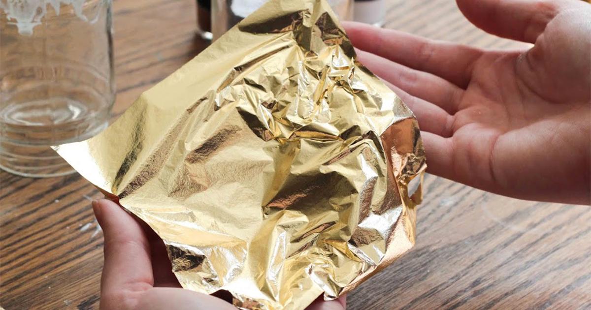 bahan finishing gold leaf